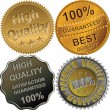 Royalty-Free Stock Vector Image: Set of gold, silver and bronze medals for quality
