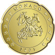 Vector Money money gold eurocent monaco — Stock Vector #8406938