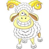 Vector cartoon happy funny ram — Stock Vector