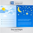 Stock Vector: Day and night. Vector Background