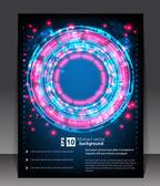 Abstrait bleu avec lumières rougeoyantes — Vecteur