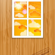 Royalty-Free Stock Vector Image: Autumn behind the window. Vector