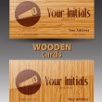 Wooden cards. Vector — Stock Vector