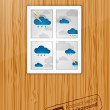 Bad weather behind the window. Vector — Stock Vector