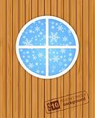 Зима за окном — Cтоковый вектор