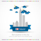 Bad weather background. City theme — Stock vektor
