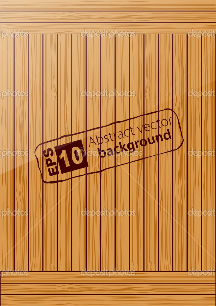 Wooden background. Vector. eps 10 — Stock Vector #10456227