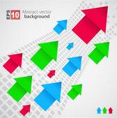 Arrows background. Vector — Stock Vector