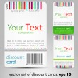 Set of discount cards — Stock Vector