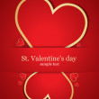 Card with nice hearts. Vector — Stock Vector