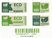 Eco labels with retro vintage design. Vector — Stock Vector