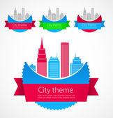 Gekleurde stad concept art. vector — Stockvector