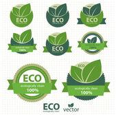 Eco etiquetas con diseño retro vintage. vector — Vector de stock