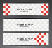 Web pixel banners. Vector — Stock Vector
