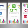 Set of cards. City theme. Vector - Stock Vector