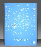 Winter theme blank. — Stock Vector