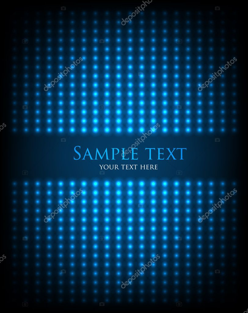 Dark abstract background with glowing lights. Vector. eps 10 — Stock Vector #9265582