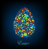 Dotted easter egg. Vector — Stock Vector