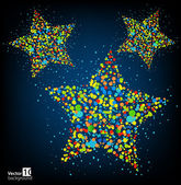 Abstract background with color stars. Vector — Stock Vector