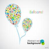 Funny balloons. Vector — Stock Vector