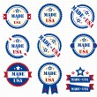 Set of labels MADE IN USA. Vector — Stock Vector #9839499
