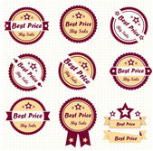 Collection Best Quality Labels, vector — Stock Vector