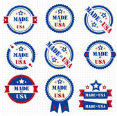 Set of labels MADE IN USA. Vector — Stock Vector