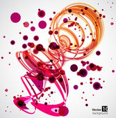 Abstract Pink Spiral Background. Vector — Stock Vector
