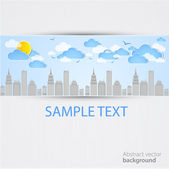 Sky-scraper. City theme background. Vector — Stock Vector