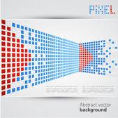 Abstract blank. Pixel art. Vector — Stock Vector