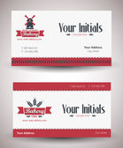 Vector retro vintage business card for bakery business. — Stock Vector