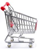 An empty shopping trolley — Stock Photo