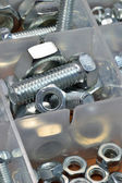 Mixed nuts and bolts — Stock Photo