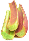 Bâtonnets de rhubarbe fraîche — Photo