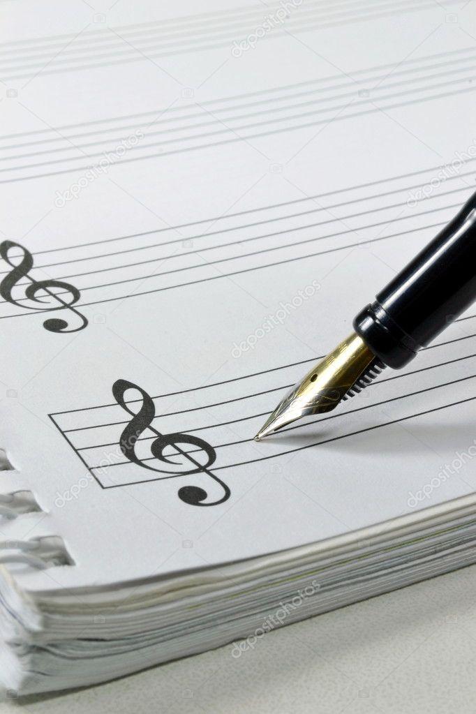 бланк нотного листа - фото 11