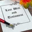 A last will and testament — Stock Photo