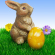 An easter bunny with egg — Stock Photo