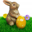 An easter bunny with egg - Stock Photo