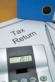 Tax return papers — Stock Photo