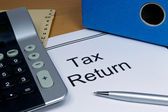 Tax return papers — Stockfoto