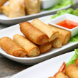 Stock Photo: Spring rolls food