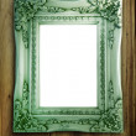 Green vintage metal frame — Stock Photo