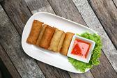 Alimentos rollitos de primavera — Foto de Stock