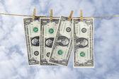Dollar paper hang — Stock Photo