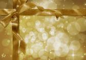 Fita dourada com o arco — Foto Stock