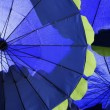 Stock Photo: Blue umbrellas background