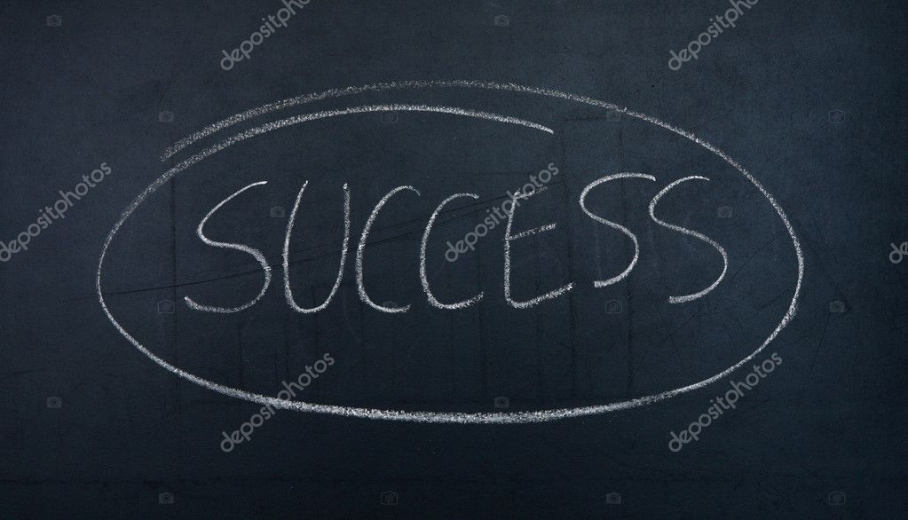 Success  written on a blackboard. — Stock Photo #10570526