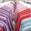 Stockfoto: T-shirts on hanger