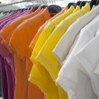 T-shirts on the hanger — ストック写真