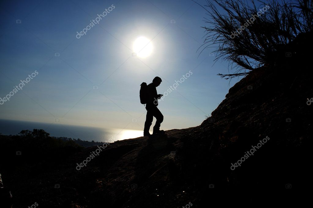 Man walking in the mountain — Stock Photo #10581547